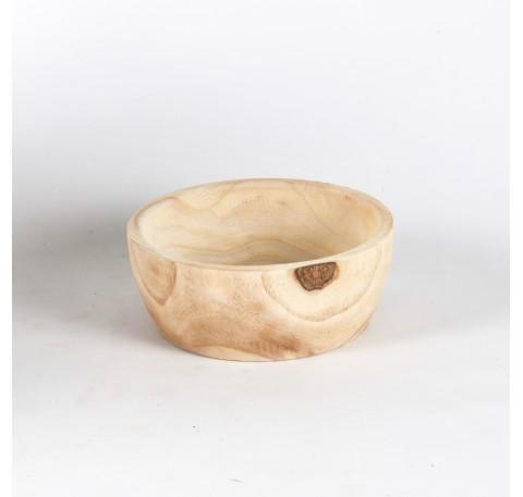 Coupe en bois Paulownia Diam. 20 cm