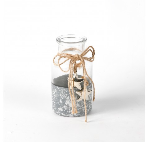 Vase en verre fond façon ciment
