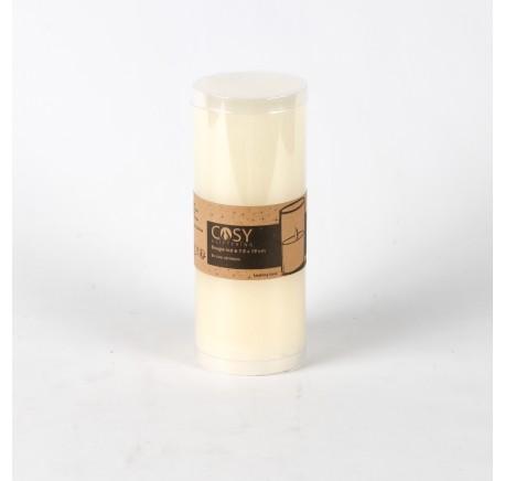 Bougie LED cylindrique ivoire Haut. 19 cm - Décoration de Noël  - Lecomptoirdesauthentics