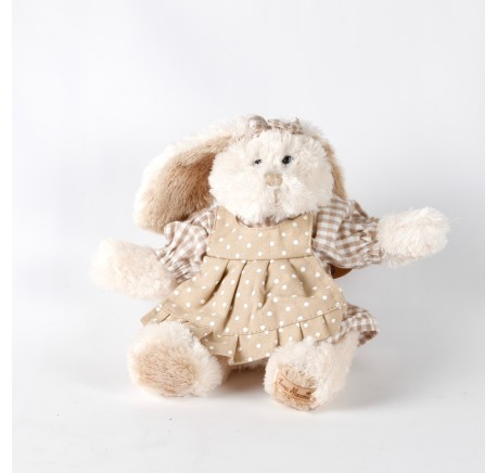 Peluche Lapin Bianca avec robe Louise Mansen 22 cm - Peluche, doudou - Lecomptoirdesauthentics