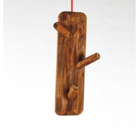 Patère Verticale 3 crochets en bois, Haut. 35 cm - Etagère - Chambre à coucher - Lecomptoirdesauthentics
