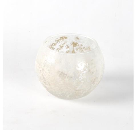 Photophore SHINE Diam. 10 cm blanc