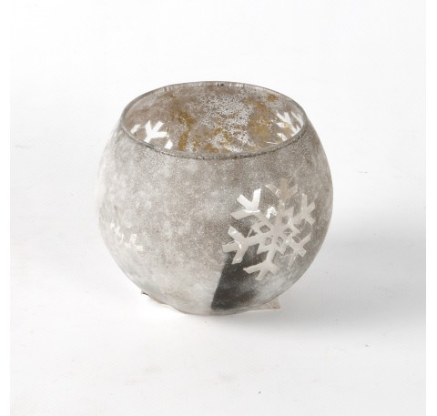 Photophore SHINE Diam. 10 cm gris
