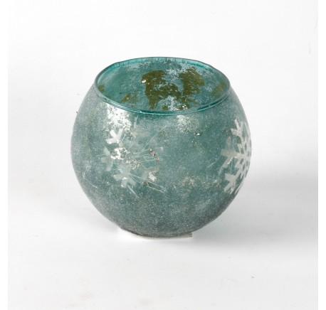 Photophore SHINE Diam. 10 cm vert - Décoration de Noël  - Lecomptoirdesauthentics