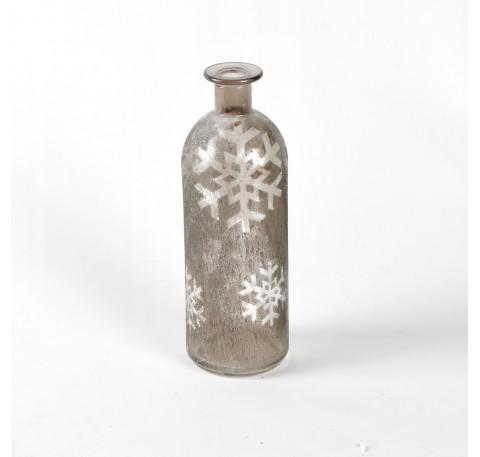 Vase SHINE H20cm gris