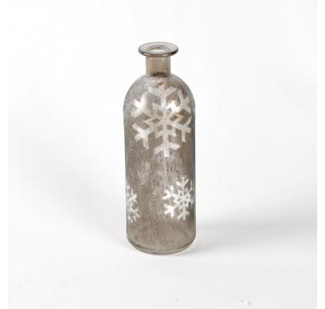 Vase SHINE H20cm gris - Décoration de Noël  - Lecomptoirdesauthentics