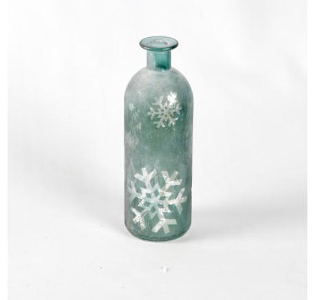 Vase SHINE H20cm vert - Décoration de Noël  - Lecomptoirdesauthentics