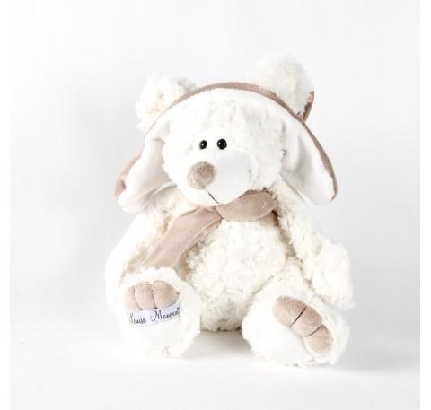 Peluche Souris blanche avec Chapka Louise Mansen LONNY 31 cm