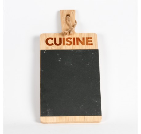 Planche à découper Cuisine en bambou et ardoise -  - Lecomptoirdesauthentics