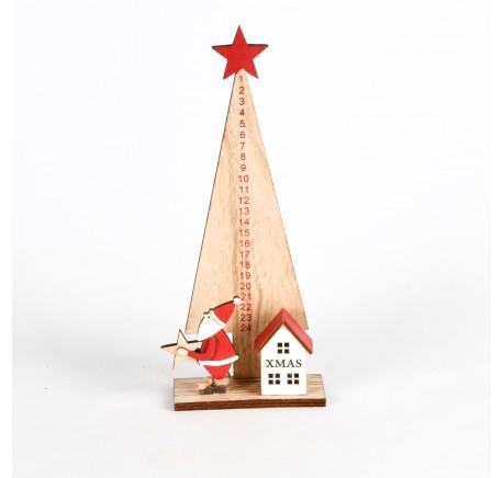 Sapin Calendrier de l'Avent Haut. 26,5 cm - Décoration de Noël  - Lecomptoirdesauthentics