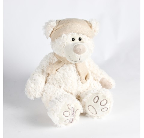 Peluche Ours Blanc  Louise Mansen ETHAN 24 cm