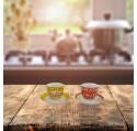Set 2 Tasses à café VINTAGE AMERICAN