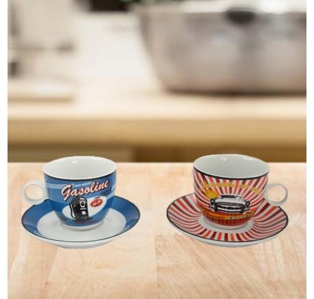 Lot de 2 Tasses à café vintage station Service de Table. - Vaisselle - Lecomptoirdesauthentics