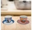Lot de 2 Tasses à café vintage station Service de Table.