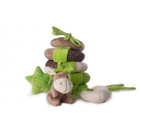 Doudou Spirale Bébé ANE Vert et Marron  pour poussette  - Peluche, doudou - Lecomptoirdesauthentics