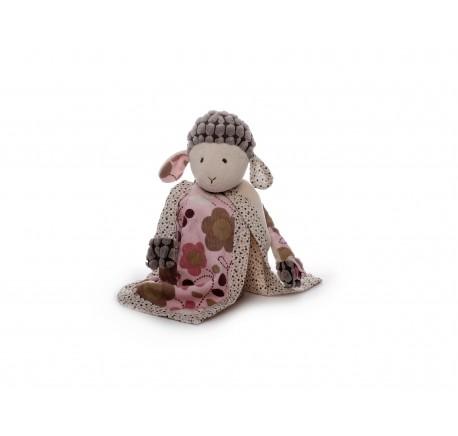 Doudou Bébé Mouton Rose ultra doux - Peluche, doudou - Lecomptoirdesauthentics
