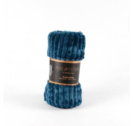 Plaid à côtes coloris bleu foncé - Plaids - Lecomptoirdesauthentics