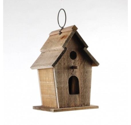 Cabane à oiseaux bois deux ouvertures  -  - Lecomptoirdesauthentics