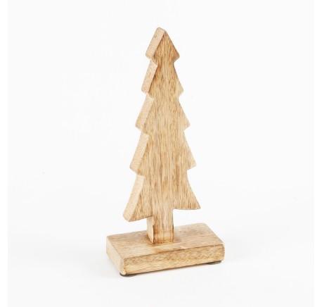 Sapin bois Noël couleur miel - Décoration de Noël  - Lecomptoirdesauthentics