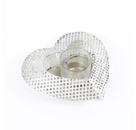 Photophore base coeur en métal - Décoration de Noël  - Lecomptoirdesauthentics
