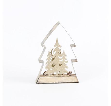 Sapin en bois naturel - Décoration de Noël  - Lecomptoirdesauthentics