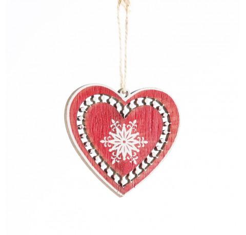 Coeur en bois rouge