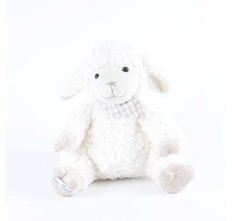 Peluche AGNEAU Blanc KENNY 28 cm  - Peluche, doudou - Lecomptoirdesauthentics