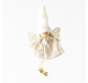 Ange Fille feutrine lin pois blanc jambes en ficelles  - Décoration de Noël  - Lecomptoirdesauthentics