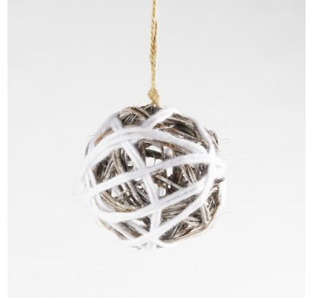 Boule de noël en bois - Décoration de Noël  - Lecomptoirdesauthentics