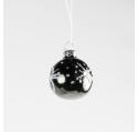 Boule de Noël à Noir Brillant à poser ou suspendre