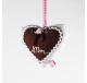 Coeur en tissu Vintage - Décoration de Noël  - Lecomptoirdesauthentics