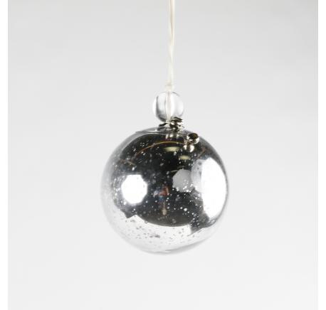 Boule de Noël Verre Reflets Miroir Argentés clochette - Décoration de Noël  - Lecomptoirdesauthentics