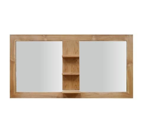 Miroir salle de bain 3 étagères