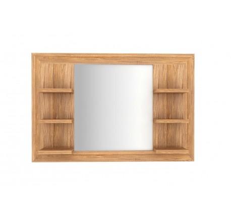 Miroir Teck Massif Salle de bain 6 étagères 105 cm - Salle de bain - Lecomptoirdesauthentics