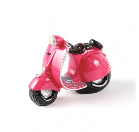 Tirelire SCOOTER VESPA Rose Fuchsia Vintage