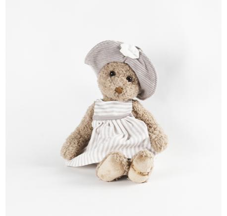 Peluche Ours Fille marron SIGRID Louise Mansen 31 cm - Peluche, doudou - Lecomptoirdesauthentics