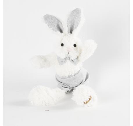 Peluche Lapin blanc GUSTIN Louise Mansen 30 cm - Peluche, doudou - Lecomptoirdesauthentics