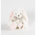 Peluche Lapin blanc BELLA Louise Mansen 21 cm
