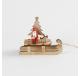 Suspension luge du pere noël en bois naturel - Décoration de Noël  - Lecomptoirdesauthentics