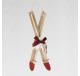 Suspension Paire de SKI en bois 23 cm - Décoration de Noël  - Lecomptoirdesauthentics
