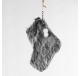 Chaussette du Père Noël Fourrure anthracite 18 cm - Décoration de Noël  - Lecomptoirdesauthentics
