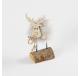 Renne à poser bois et métal gris clair 13,5 cm  -  - Lecomptoirdesauthentics