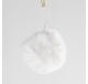 Suspension Boule de Noël Fourrure 6 cm - Décoration de Noël  - Lecomptoirdesauthentics