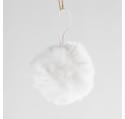 Suspension Boule de Noël Fourrure 6 cm