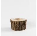 Cache-pot ECORCE cylindrique support rotatif Ht 10 cm