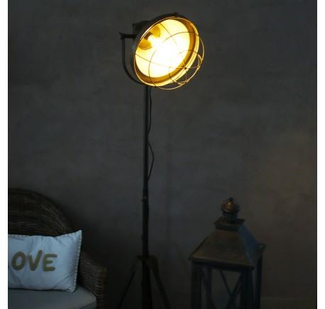 Lampe sur trépied métal - Luminaire - Lecomptoirdesauthentics