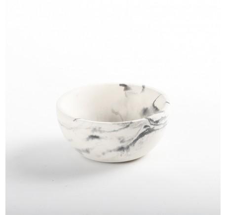 Pot avec couvercle effet marbré - Salle de bain - Lecomptoirdesauthentics