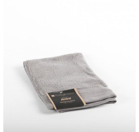 Serviette invité Eponge INAYA coloris gris  - Linge de maison - Lecomptoirdesauthentics