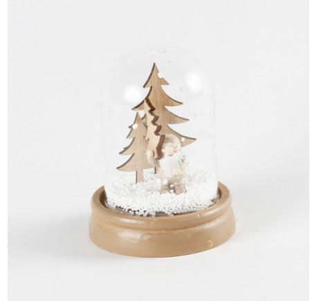 Boule à Neige Sapin bois Père-Noël  - Décoration de Noël  - Lecomptoirdesauthentics