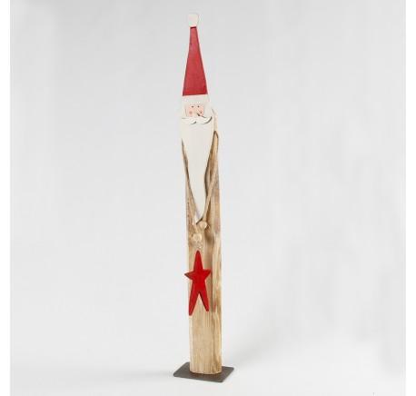 Père-Noël Bois HT 67 cm  - Décoration de Noël  - Lecomptoirdesauthentics